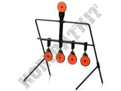 5 Targets Metal Self Resetting Spinning Air Pistol & BB Gun Rifle Shooting Practice Set