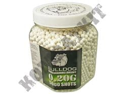 5000 x 6mm x 20g White Biodegradable Polished Airsoft Pellets in Tub Bulldog