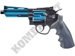 "802BX Airsoft Pistol Magnum Revolver Replica Co2 BB Gun Black & 2 Tone Metal 4"" Barrel"
