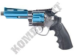 "802SX Airsoft Pistol Magnum Revolver Replica Co2 BB Gun Silver & 2 Tone Metal 4"" Barrel"
