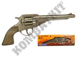 88 Die-Cast Metal Cowboy Revolver 8 Shot Toy Cap Gun European Made