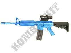 8908A BB Gun M4 Replica Spring Airsoft Rifle Blue Black 2 Tone