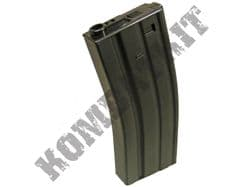Airsoft AEG magazine 300 round hi cap BB pellet ammo clip for M4 M16 AR15 variants black metal