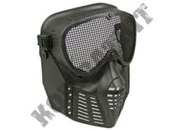Airsoft BB Gun full face mask with metal mesh eye protection black