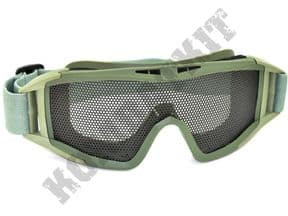 KOMBATKIT: airsoft glasses metal mesh safety goggles large eye protection army green