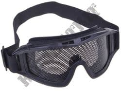 Airsoft Goggles Large metal mesh safety glasses eye protection Black ACM no fog