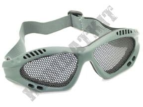 KOMBATKIT: airsoft glasses metal mesh safety goggles sports eye protection army green