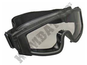KOMBATKIT: BB Airsoft CQB Tactical Sports Wrap Around Safety Goggles In Black