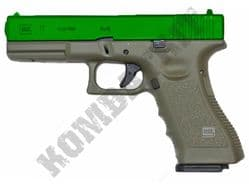 Army R17 BB Gun Glock Replica Gas Blowback Airsoft Pistol OD 2 Tone Metal Slide