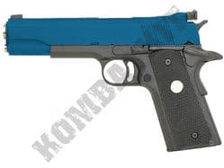 Army R29 M1911 MKIV Replica Pistol Gas Blowback Metal Airsoft BB Gun 2 Tone Blue Black