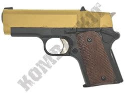 Army R45 Airsoft Pistol 1911 .45 Cal Compact Replica Gas Blowback BB Gun Black Gold 2 Tone