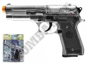 Beretta Elite II Airsoft Pistol | M92 Official Co2 BB Gun Black Clear 2 Tone | KOMBATKIT