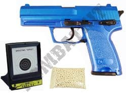 BUNDLE DEAL HA112 Airsoft BB Gun 2 Tone Blue + 03-B1 Target + 1000 x 20g Pellets