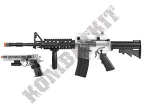 M4 & 1911 BB Gun Bundle | COLT Official Airsoft Guns Clear Two Tone | KOMBATKIT SHOP