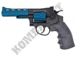 CS04 Magnum Revolver Replica Co2 Powered Airsoft BB Gun Black & 2 Tone Metal