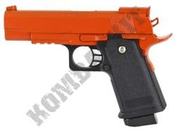 D1 Metal Airsoft BB Gun 2 Tone Black and Orange