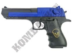 DE669B BB Gun Desert Eagle Replica Spring Airsoft Pistol Black Blue 2 Tone