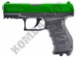 FS1506 BB Gun Walther PPQ Replica CO2 Gas Airsoft Pistol Black & 2 Tone Metal Slide