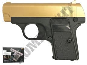 G1 GOLD BB gun | Colt Compact Style BB pistol | 2 tone airsoft guns uk | Metal BBguns