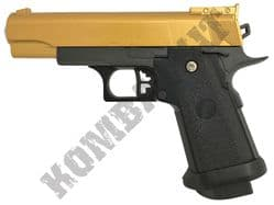 G10 Metal BB Gun Colt 1911 Custom Replica Spring Airsoft Pistol Black Gold 2 Tone