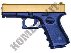 G15 Metal BB Gun Glock G23 Replica Spring Airsoft Pistol 2 Tone Gold Black