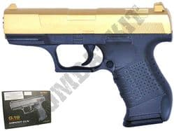 G19 Metal Airsoft BB Gun Black and Gold