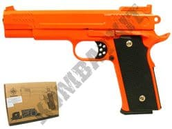 G20 Metal Airsoft BB Gun Black and Orange