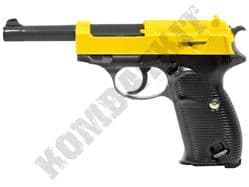 G21 Gold BB Gun Walther P38 Replica Spring Airsoft Pistol 2 Tone Metal