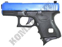 G27 Gas Blowback Airsoft BB Gun Black and Blue with Metal Slide