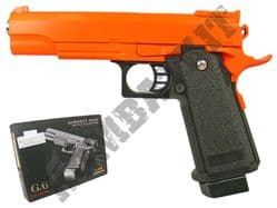 G6 Metal Airsoft BB Gun Black and Orange