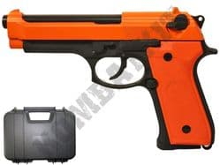 GB0701 BB Gun SR92 Beretta Replica Gas Blowback Airsoft Pistol 2 Tone Orange Black Metal