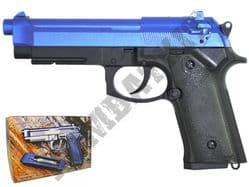 GC105 CO2 Powered Airsoft BB Gun Black and Blue
