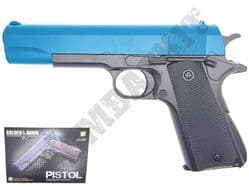 GE2003 BB Gun Colt 1911 Replica Spring Pistol Black & 2 Tone Colours