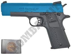 GE3330 IMF 1911 .45ACP OPS Airsoft Pistol Gas Blowback BB Gun Black & 2 Tone Metal