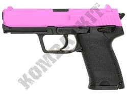 GGH-0303 Pink BB Gun H&K USP Replica Gas Powered Airsoft Pistol 2 Tone Colours