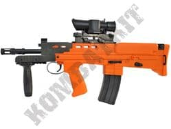 HA-211 BB Gun British Army SA80 L22 Carbine Replica Spring Airsoft Rifle 2 Tone Orange Black