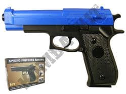 HA106 BB Gun Double Eagle Replica Spring Airsoft Pistol 2 Tone Colours