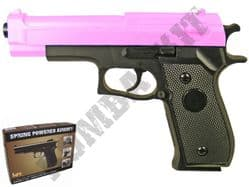 HA106 BB Gun Double Eagle Replica Spring Airsoft Pistol 2 Tone Pink Black