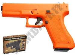 HA117 Airsoft BB Gun Black and Orange