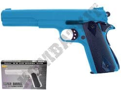 HA123 BB Gun Colt 1911 Long Replica Spring Airsoft Pistol Blue & 2 Tone