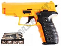 HA183B Sig Sauer 226 Replica Pistol Spring Powered Airsoft BB Gun 2 Tone Orange Black