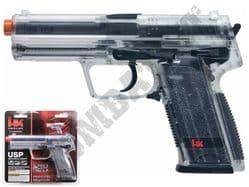 Heckler & Koch USP BB Gun Official Spring Airsoft Pistol Clear Black 2 Tone