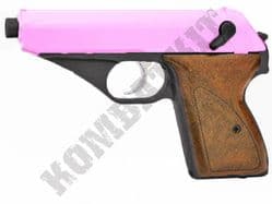 HG106 BB Gun Walther PPK Replica Gas Powered Airsoft Pistol 2 Tone Black Pink