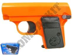 HG107 Gas Powered Airsoft BB Gun Black and Orange