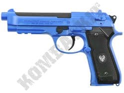 HG126 Airsoft Pistol Beretta M92 Railed Replica Gas BB Gun Blue Black 2 Tone ABS