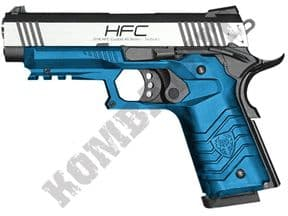 HG171 Airsoft Pistol | Tactical 1911 Gas Blowback BB Gun Silver 2 Tone | KOMBATKIT SHOP