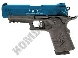 HG171 Tactical 1911 Pistol Replica Full Metal Co2 Blowback Airsoft BB Gun 2 Tone Blue Black