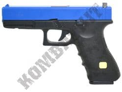 HG185 Airsoft Pistol Glock G17 Replica Gas Blowback BB Gun Black & 2 Tone Metal Slide