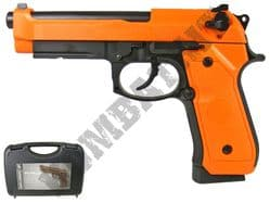 HG190 CO2 Blowback Airsoft BB Gun Black and Orange