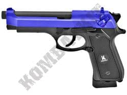 HG194 Airsoft Pistol Beretta M9 Replica Gas Blowback BB Gun Black 2 Tone Full Metal